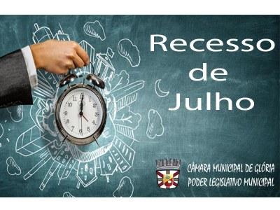 RECESSO PARLAMENTAR DE JULHO