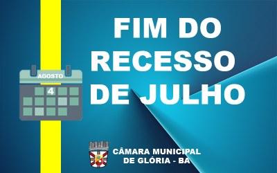 FIM DO RECESSO DE JULHO 2020