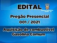 EDITAL DO PREGÃO PRESENCIAL Nº 001/2021